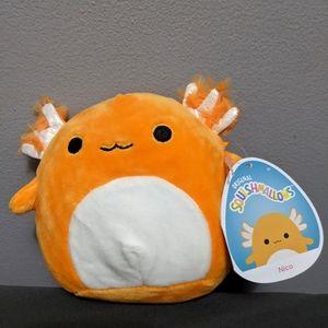 5 inch 2021 orange axolotl squishmallow Nico